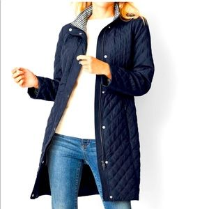 Talbots quilted jacket size small